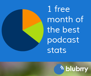 1 month free stats with Blubrry